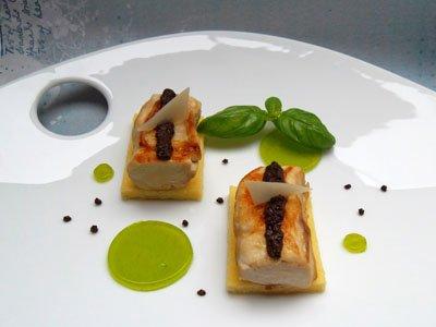 Filets de lapin à la tapenade, polenta au parmesan et gelée de basilic dans 3 - PLATS lapintapenadepolentabasilic