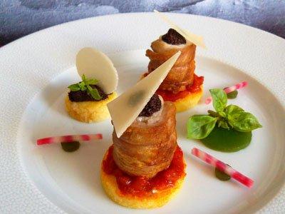 Filets de lapin à la tapenade, polenta à la tomate et gelée de basilic dans 3 - PLATS lapintapenadepolentatomatebasilic