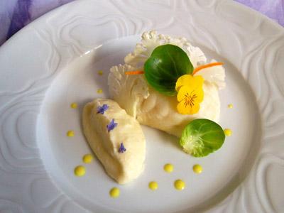 Lotte à l'huile d'orange, mousseline de chou-fleur et crème au curry dans 3 - PLATS lotteorangemousselinechoufleurcurry