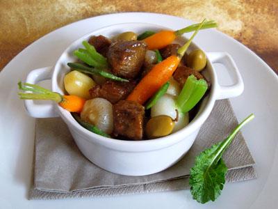 Sauté d'agneau aux olives vertes et cumin en cocotte dans 3 - PLATS agneauolivesvertes